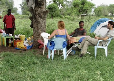 Camping in Hamer village