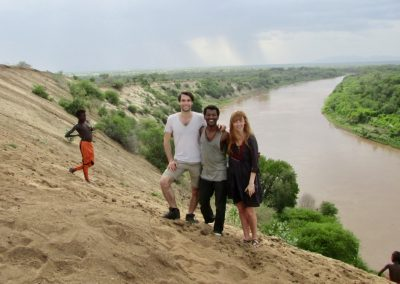 See Us guide and clients in Suri on Omo River